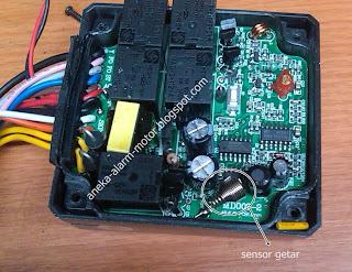 Cara mengurangi sensitif sensor getar pada alarm motor remote