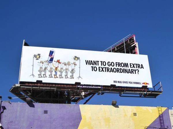 Red Bull extra to extraordinary billboard