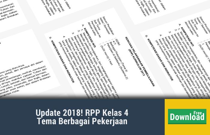 RPP Tema 4 Berbagai Pekerjaan Subtema 2