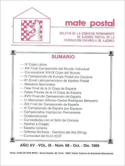 Mate Postal Nº68-Octubre-Diciembre-1989