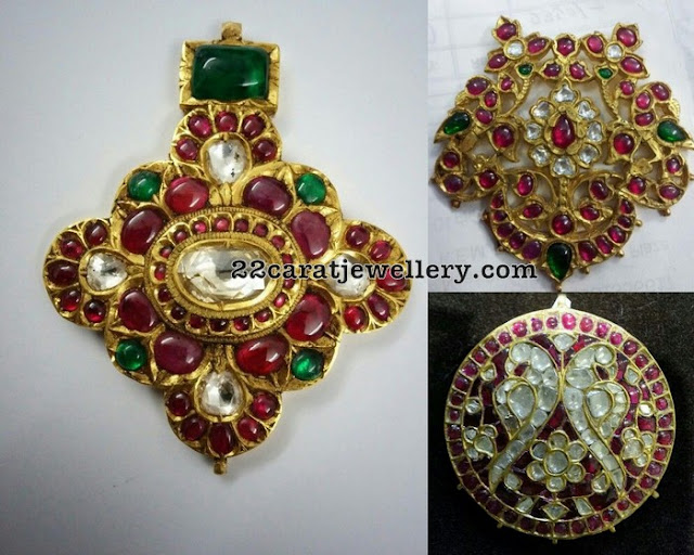 Ruby Light Weight Pendant Set