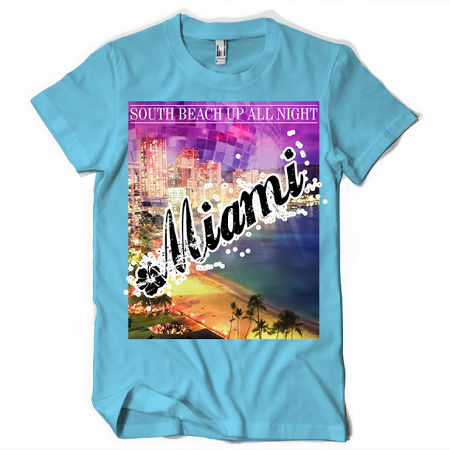 miami text tshirt