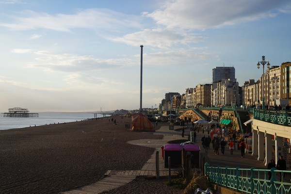 brighton seafront front mer beach plage sunset coucher soleil