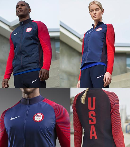 15f6caa81daea Nike apresenta jaqueta de pódio dos Estados Unidos para o Rio 2016 ...