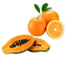 laranja e mamão