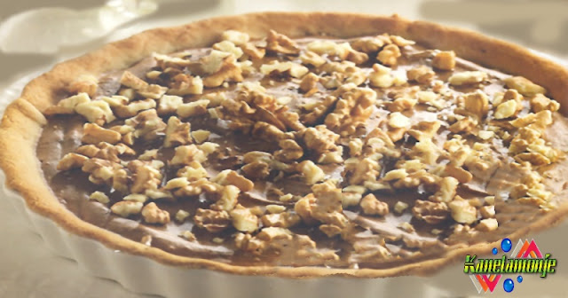Tarta crema de chocolate y nueces
