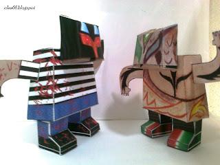 paper toys los elua graficos