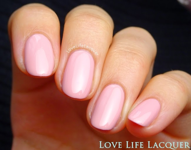 Sophin Macaroons 340 soft pink swatch by @lovelifelacquer