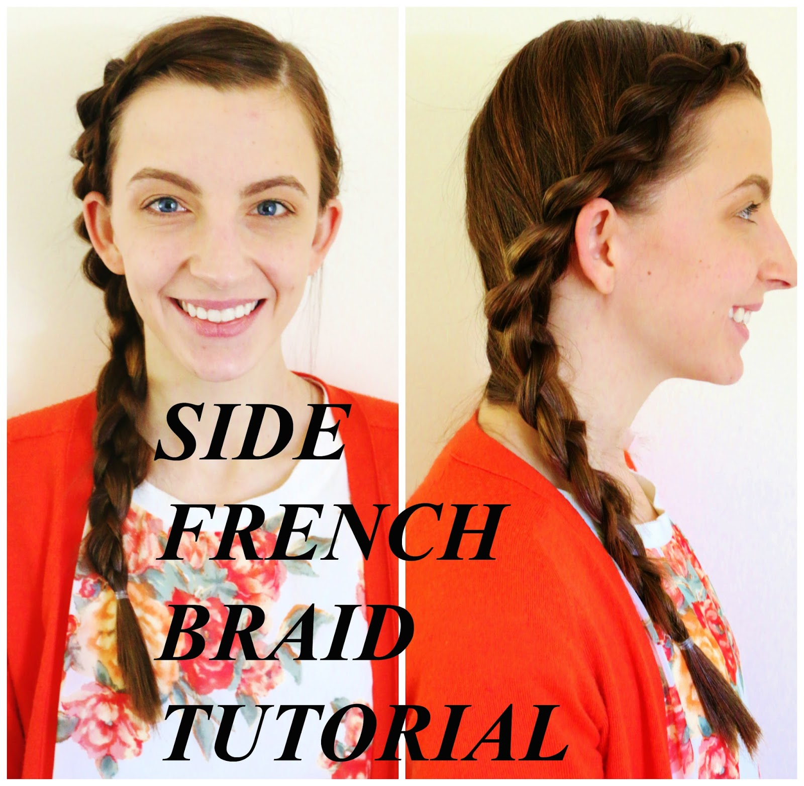 side french braid hair