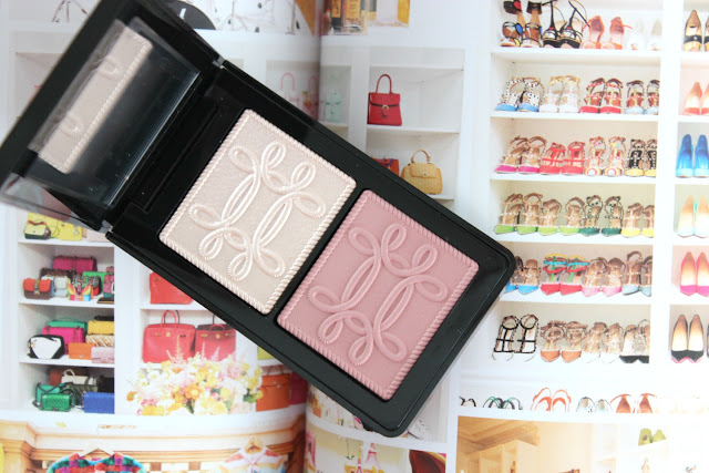 MAC Nutcracker Sweet Peach Face Compact, flatlay, swatches, review, makeup, blush, highlight