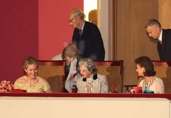 Queen Fabiola, Crown Princess Mathilde and Princess Margaretha of Liechtenstein