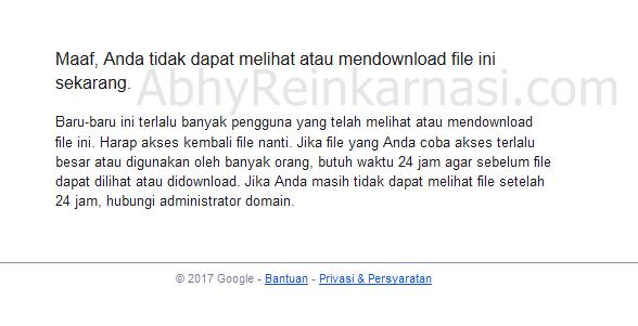 tidak dapat mendownload di Google Drive