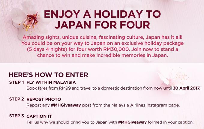 Menang Percutian Percuma Untuk 4 Orang ke Jepun Menerusi #MHGiveaway