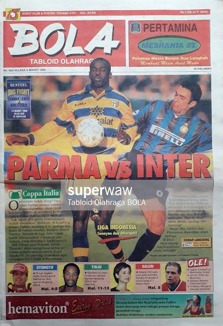 TABLOID BOLA: COPPA ITALIA PARMA VS INTER