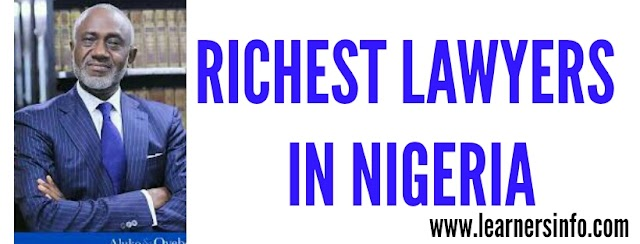 Richest Lawyers In Nigeria (2018)