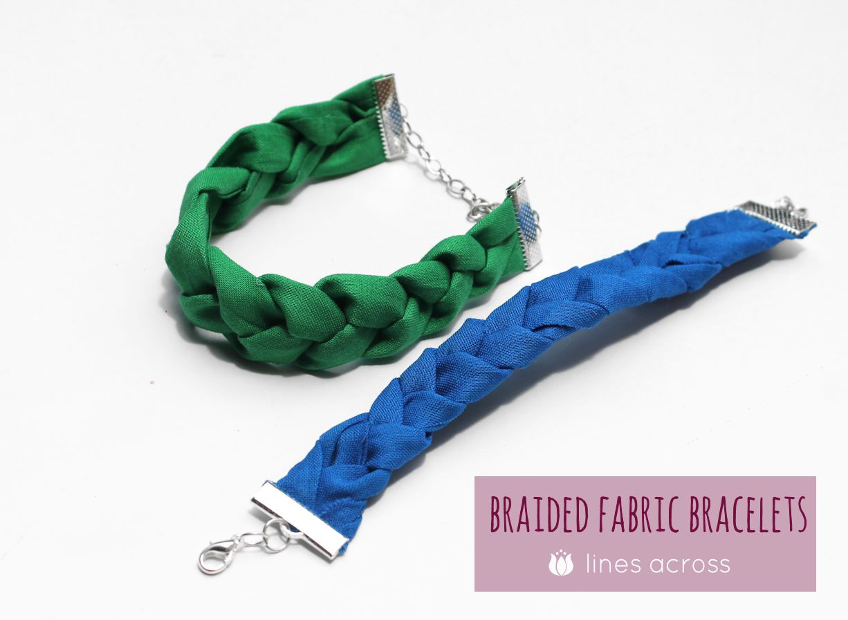 Braided Fabric Bracelets Lines Across