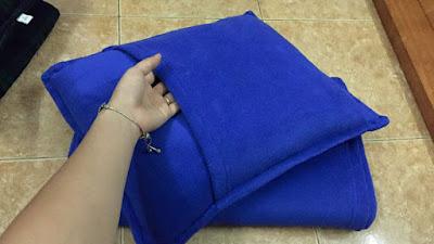 Xưởng sản xuất chăn nỉ màu xanh dương