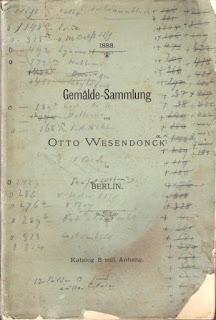 Otto Wesendonck: Gemälde-Sammlung von Otto Wesendonck in Berlin. Katalog B mit Anhang. Berlin 1888