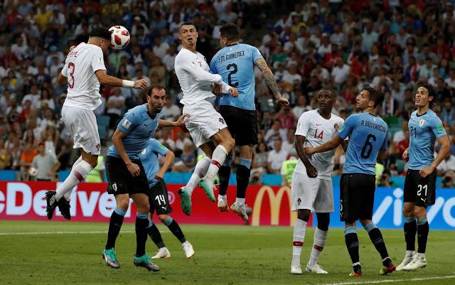 Goal! Pepe levels the score | Uruguay 1-1 Portugal (Video)