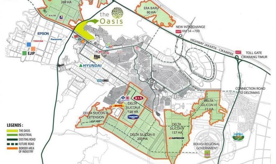 Peta Lokasi Kawasan Industri EJIP Cikarang