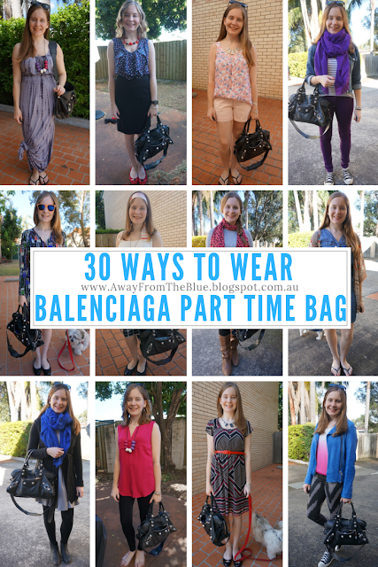 30 ways to wear Balenciaga Part Time Bag in black #30wears | awayfromblue blog