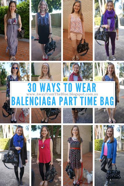 30 ways to wear Balenciaga Part Time Bag in black #30wears | awayfromblue blog