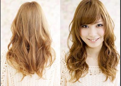 model rambut panjang untuk wajah bulat dan pipi tembem