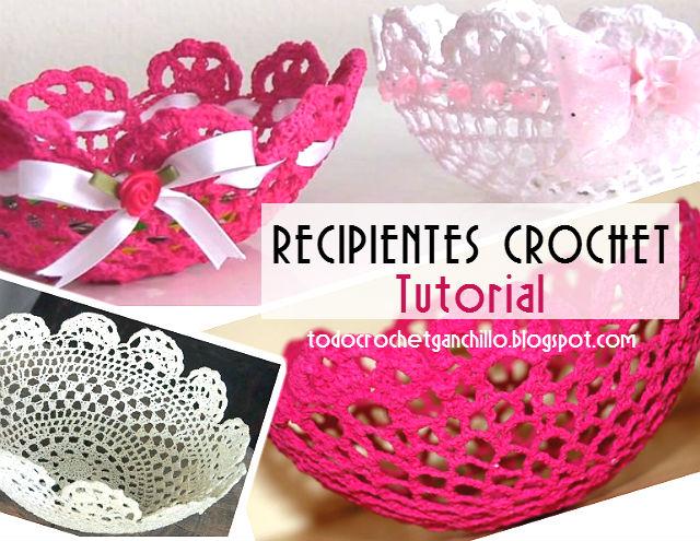 Cómo hacer bowls, tazones o recipientes decorativos con crochet ...