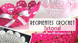 Cómo hacer bowls, tazones o recipientes decorativos con  crochet