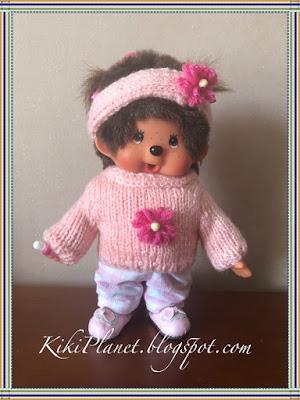 kiki monchhichi monchichi tricot knitting handmade fait main sweater dolls stuffed