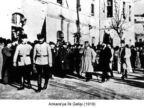 Atatürk Ankaraya İlk Gelişi 1919 Fotoğraf