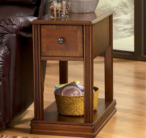 chairside table with storage