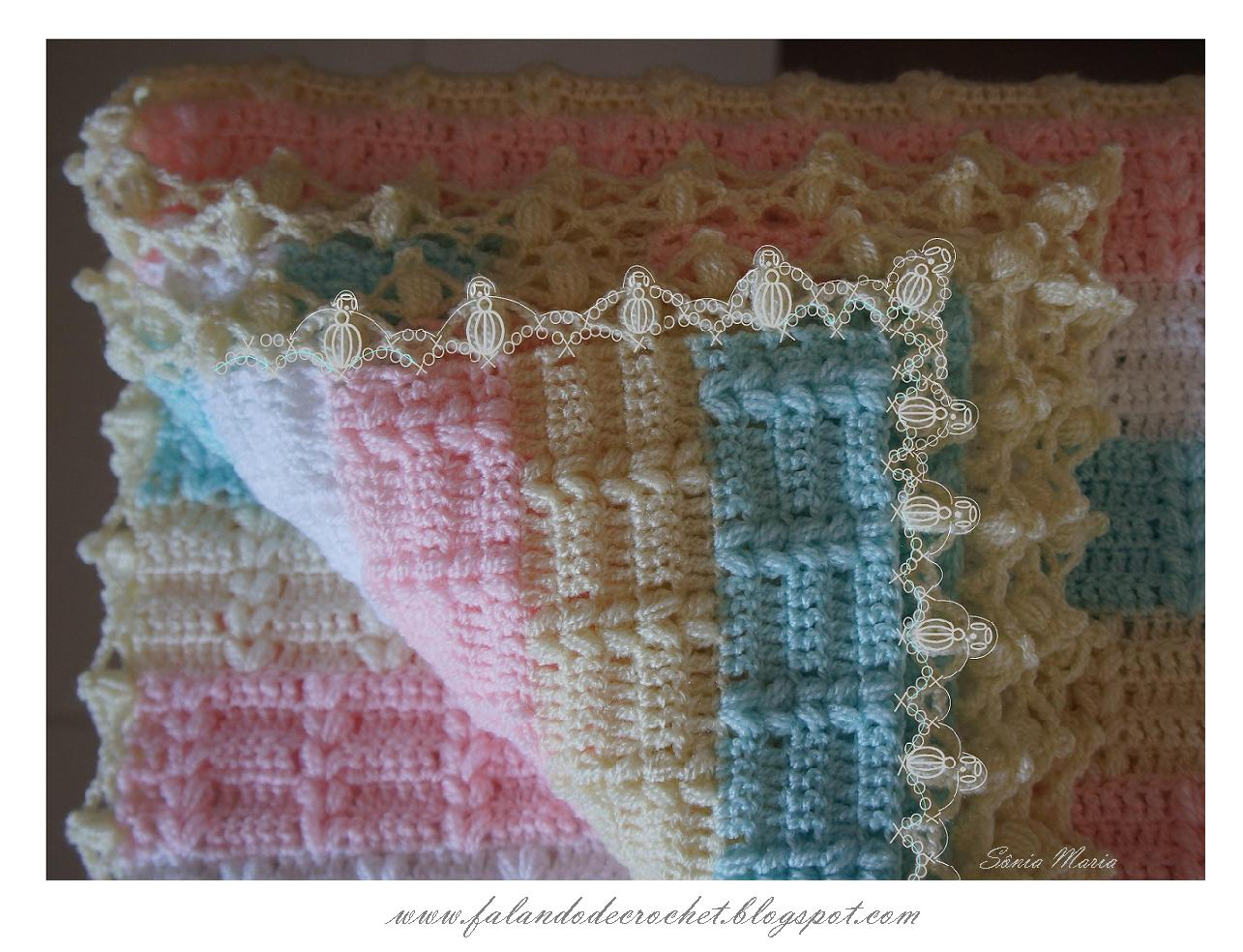 Crocheting In Spanish : FALANDO DE CROCHET: MANTA DE CROCHE NICOLE