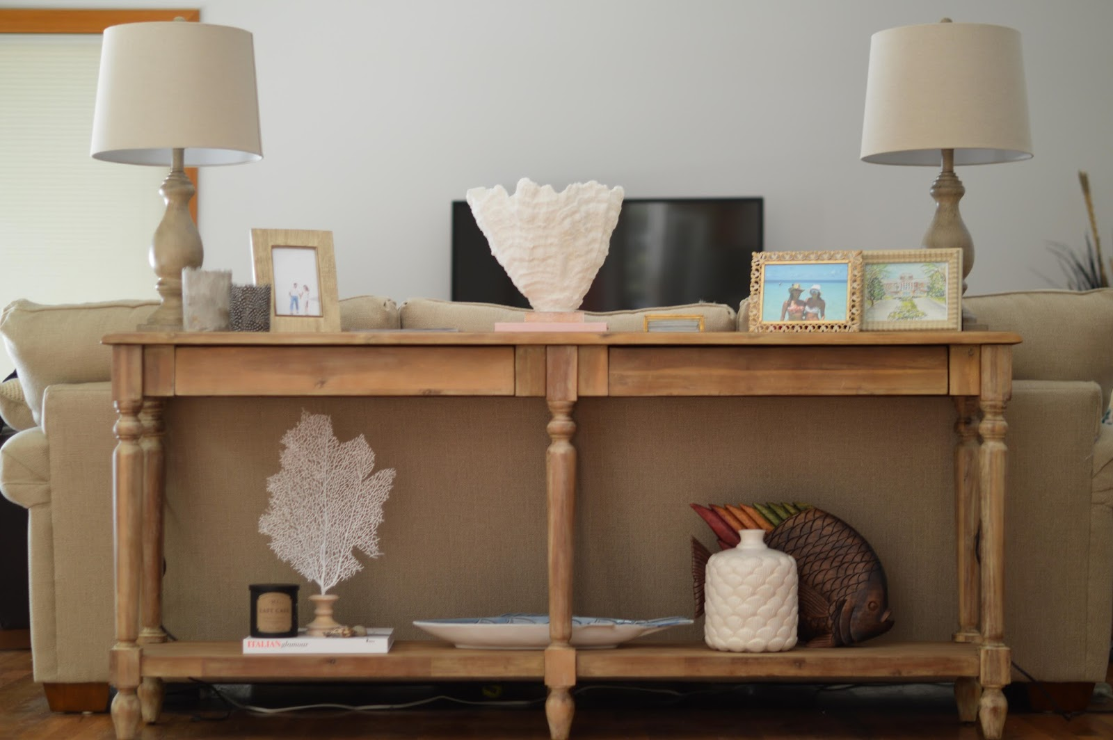 Our Home Is Definitely Still A Work In Progress! We Have So Much We Want To  Do In Our Living Room   A Larger Table For Our TV, Framing Wedding Photos  For ...