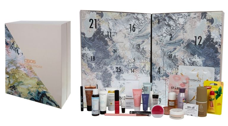 The contents of the ASOS Beauty Advent Calendar 2017 - ships worldwide free.