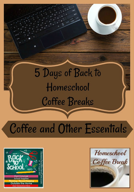 Back to Homeschool Coffee Break - Coffee and Other Essentials - part of the Back to Homeschool Blog Hop, here on Homeschool Coffee Break @ kympossibleblog.blogspot.com and hosted by the Homeschool Review Crew @ HomeschoolReviewCrew.com