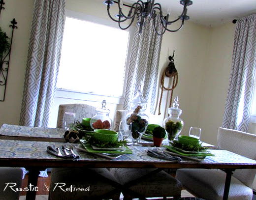 Dining Room table set for spring