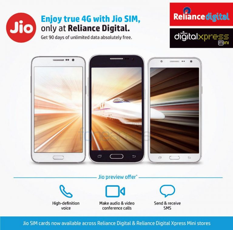 How to get a Reliance Jio SIM with unlimited 4G data usage, calls and SMS for 90 Days with any 4G smartphone