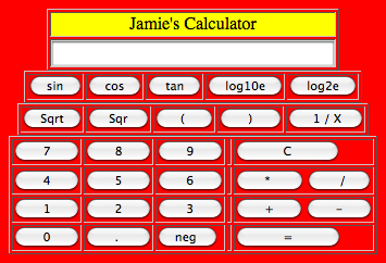 Jamie's Calculator