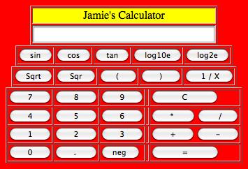 Jamie's Calculator