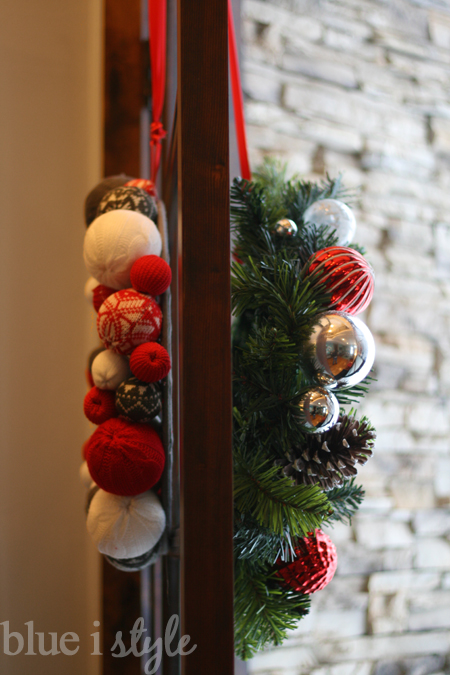 Seasonal Style Hanging Back To Back Wreaths On Glass