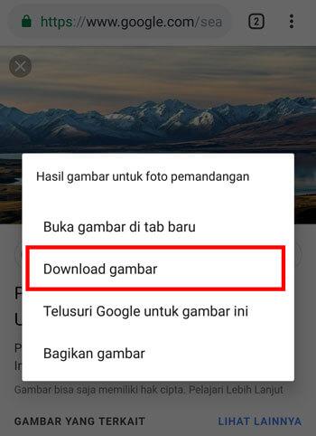3 Cara Menyimpan Gambar Dari Google Ke Galeri Hp Android Banyolanesia