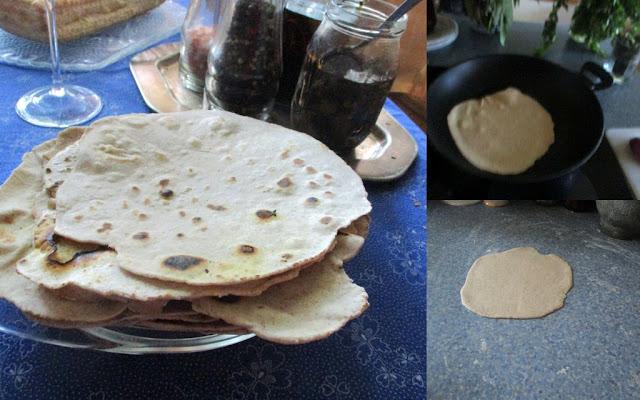 chappati  nyújtása -sütése