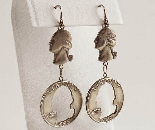 07-Earrings-George-Chained-Coin-Pennies-&-Dimes-Sculptures-&-Accessories-Jewellery-Stacey-Lee-Webber-www-designstack-co