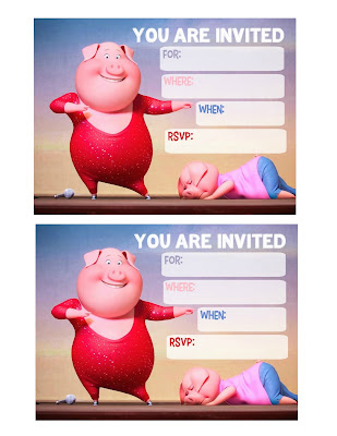 Sing Movie Party printables,