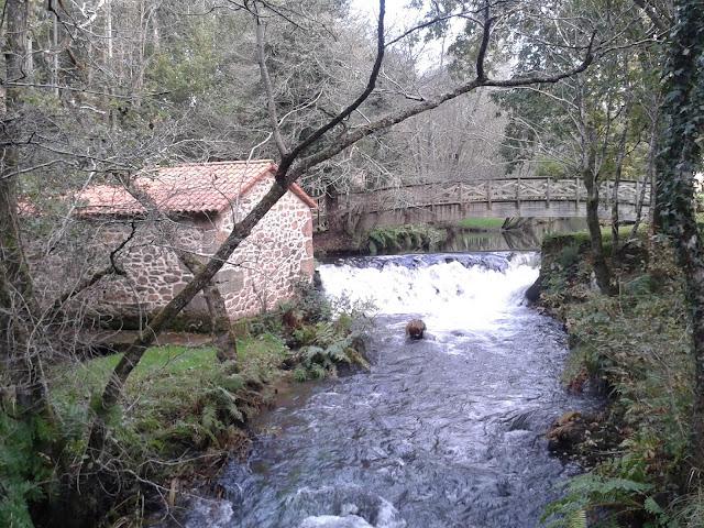 Molino en el Río Anllóns en Gabenlle