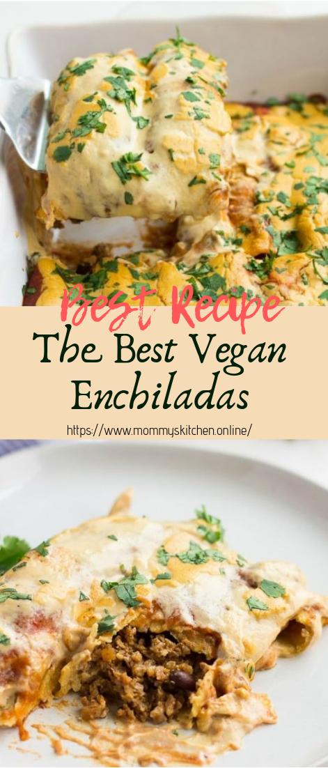 The Best Vegan Enchiladas #vegan #recipevegetarian