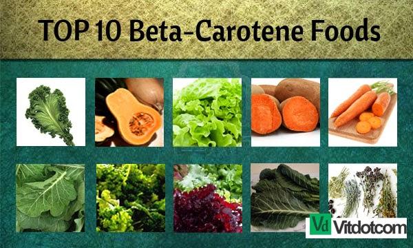 List Of Foods High In Carotene