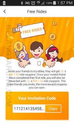 OBIKE Invitation Code