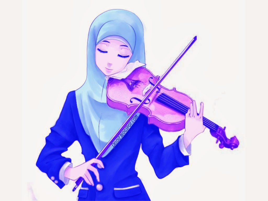 Gambar Kartun Wanita Korea Wallpaper Kartun Muslimah Cantik 9